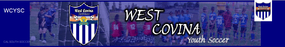 West Covina Youth Soccer banner